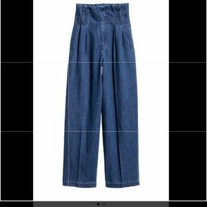 Wide leg denim/jeans